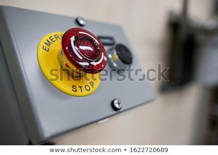 Durdurmak düğme Metal kırmızı asansör Stok fotoğraf © photo25th