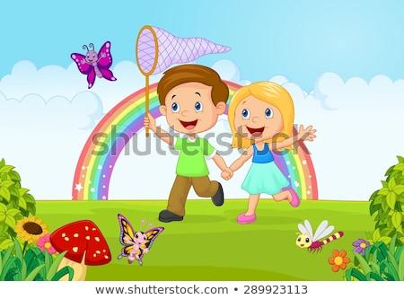 Irmão irmã besouro criança aprendizagem inseto Foto stock © IS2
