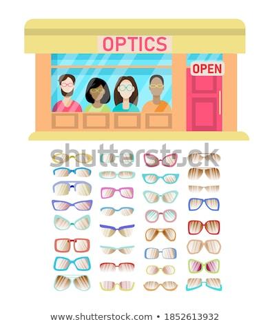 Store glasses showcase template Stock photo © romvo