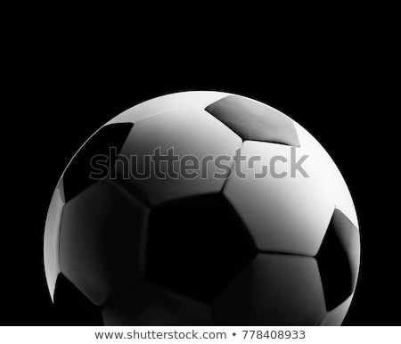 Soccer or football ball in the backlight on black background. Vector illustration Stock photo © m_pavlov