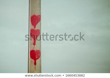 három · szív · itt · küld · üzenet · szeretet - stock fotó © theblueplanet
