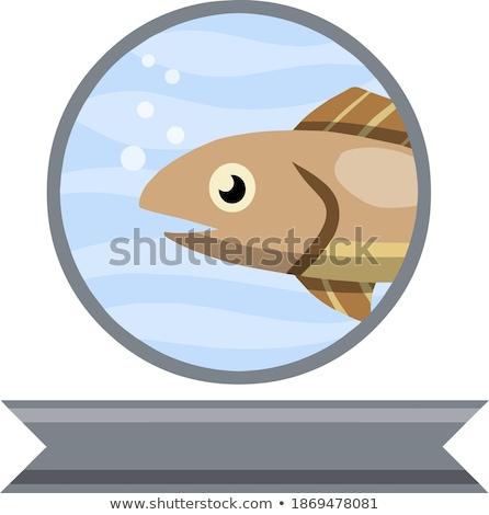 リボン 漫画 魚 アイコン 笑顔 自然 ストックフォト © NikoDzhi