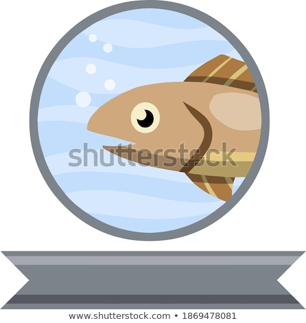 ruban · cartoon · poissons · icône · sourire · nature - photo stock © NikoDzhi