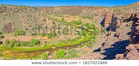 каньон стены Панорама весны парка Юта Сток-фото © wildnerdpix