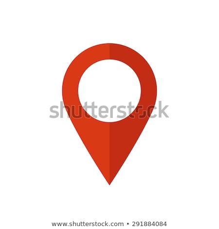 Pokaż pin czerwony fałdowy papieru biały Zdjęcia stock © Ecelop