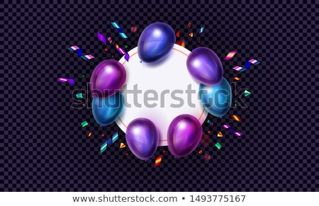 black friday sale vector illustration with shiny balloons on violet background stock photo © articular