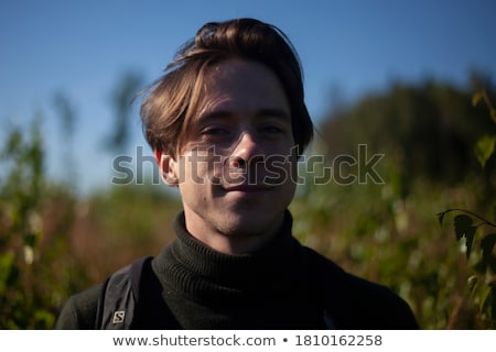 Men portrait in nature background Stock photo © IS2