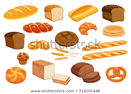 Pan francés baguette vector Cartoon ilustración frescos Foto stock © RAStudio