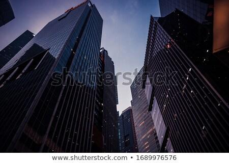офисное здание Небоскребы иллюстрация работу большой Сток-фото © ConceptCafe