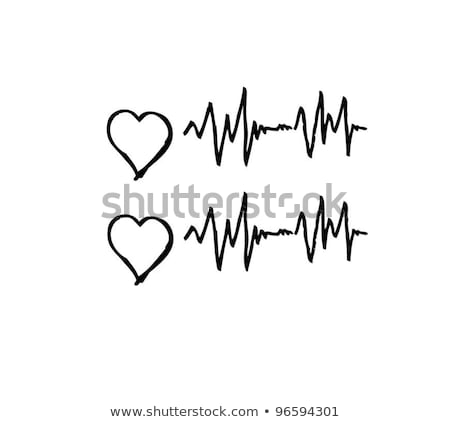 Heart monitor with caduceus Stock photo © soleilc