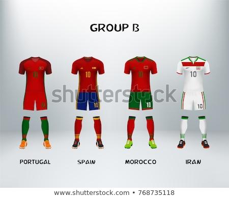 futball · gyufa · Irán · vs · Spanyolország · futball - stock fotó © romvo