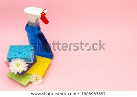 műanyag · üveg · takarítás · termék · izolált · fehér - stock fotó © wavebreak_media