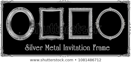 Old Silver Picture Frame on black background Stock photo © adamr