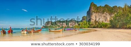 Zachód plaży krabi morza tle Zdjęcia stock © unikpix