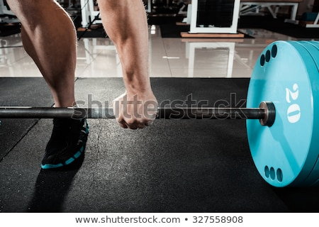 adam · ağırlık · asansör · halter · uygunluk · örnek - stok fotoğraf © lenm