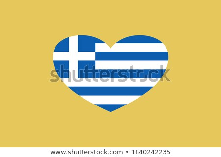 Yunanistan · kalp · bayrak · vektör · görüntü · dizayn - stok fotoğraf © Amplion