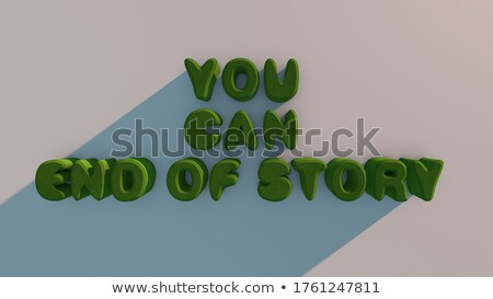 The end. wooden text on white background. Isolated 3D illustrati Stock photo © ISerg