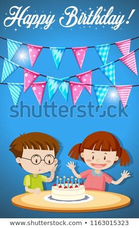 Happy brirthday card cake concept Stock photo © bluering