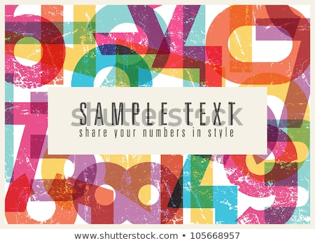 Stock photo: Abstract retro background with colorful rainbow numbers