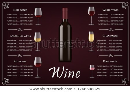 Glass of Elite White Wine Classical Alcohol Drink Stock photo © robuart