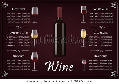 Glas elite witte wijn klassiek alcohol drinken Stockfoto © robuart