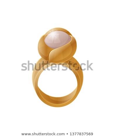 Luksusowe złoty pierścień jasne perła kolor Zdjęcia stock © robuart