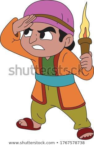 Sad Cartoon Sultan Stock photo © cthoman