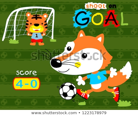 voetbal · vector · illustraties · bal · sport - stockfoto © izakowski
