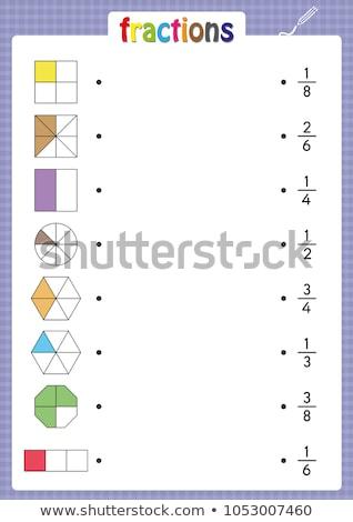 educational game fractions Black Stock photo © Olena