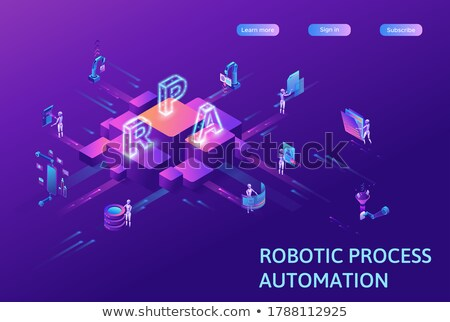 Robot software concept vector isometric illustration. Stock photo © RAStudio