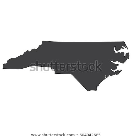 North Carolina state map in black on a white background. Vector illustration. Stock photo © kyryloff