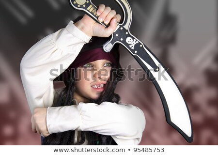 little boy dressed as the medieval pirate stock photo © acidgrey