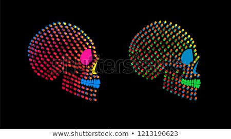 Day of the Dead Skull Neon Sign Stock photo © Anna_leni