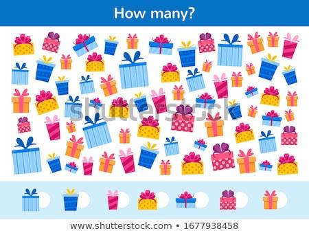 guess Christmas items game coloring book Stock photo © izakowski