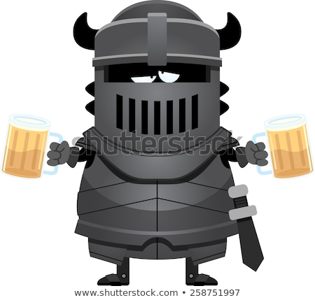 Drunk Cartoon Black Knight Stock photo © cthoman