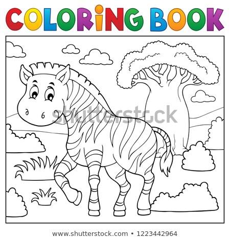 Libro da colorare african natura argomento albero libro Foto d'archivio © clairev