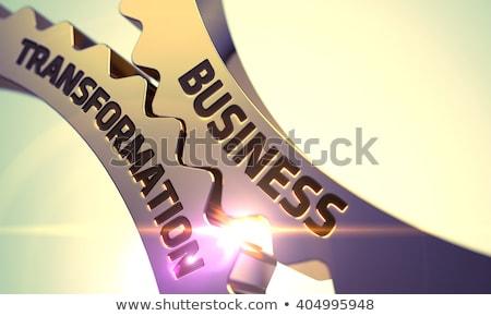 arany · sebességváltó · növekedés · stratégia · 3d · illusztráció · mechanizmus - stock fotó © tashatuvango