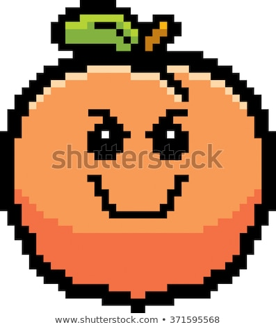 Mal cartoon Peach illustration regarder style Photo stock © cthoman
