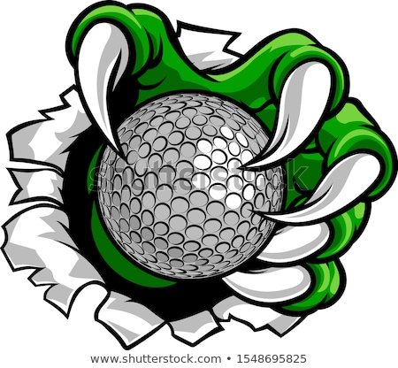 tiger holding golf ball breaking background stock photo © krisdog