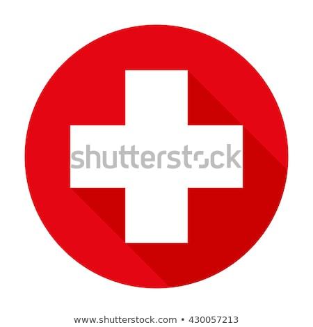 red cross plus logo sign Stock photo © blaskorizov