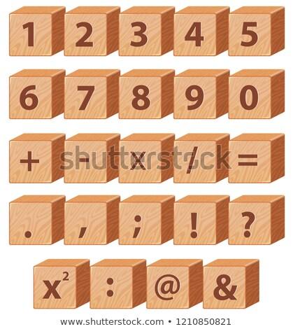 Número matemáticas icono escuela fondo Foto stock © colematt
