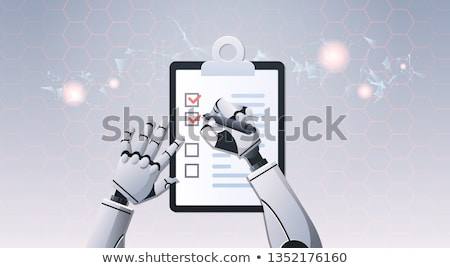 Robot Hand Clipboard Checklist Stock photo © limbi007