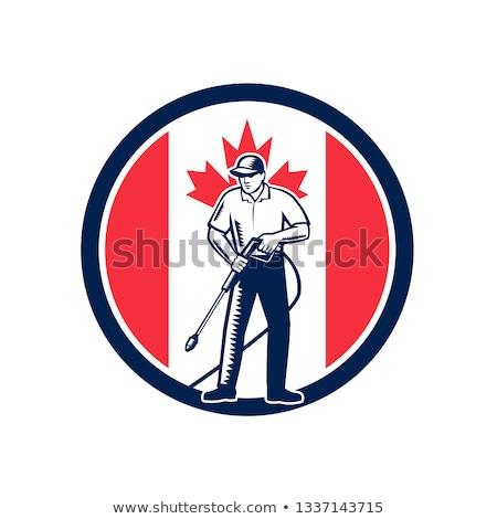 Canadian Handyman Canada Flag Icon Stock photo © patrimonio
