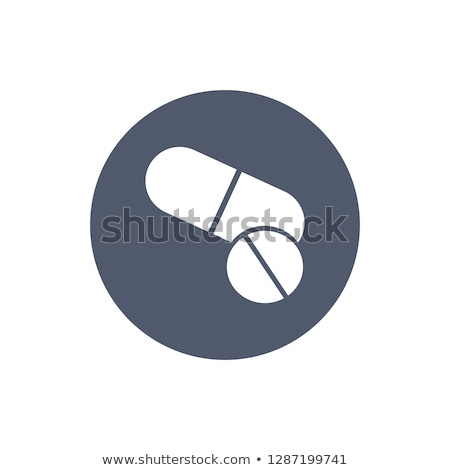 pills icon in trendy flat style in circle pills icon page symbol for your web site design medical stock photo © kyryloff