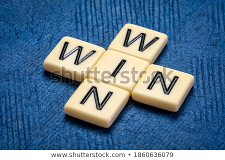 Negócio palavras cruzadas mão escrita ganhar situação Foto stock © ivelin