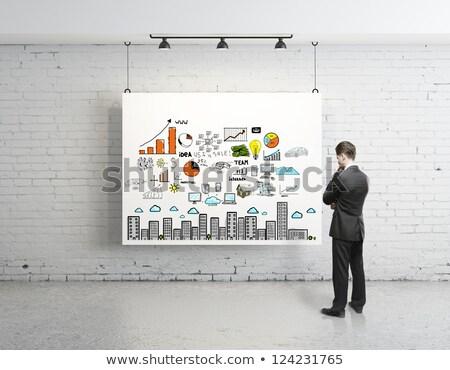 Estrategia de negocios anunciante empresario seminario presentación Foto stock © robuart