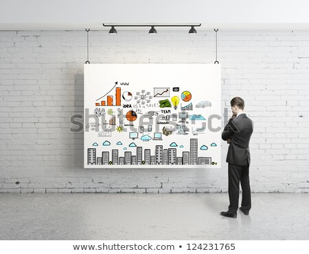 Strategia biznesowa plakat biznesmen seminarium prezentacji Zdjęcia stock © robuart