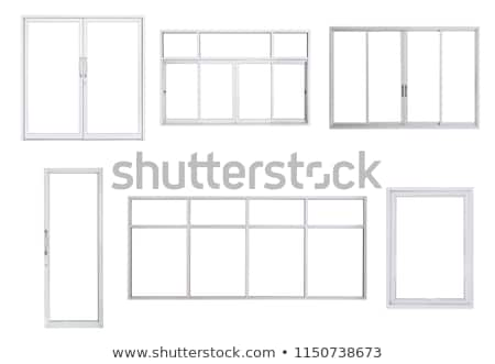 window frame on white background stock photo © colematt