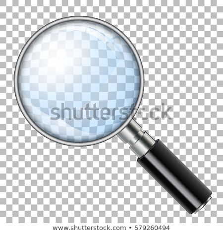 3d detective looking into a magnifying glass stock photo © 3dmask