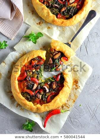 Cebula warzyw pie zioła domowej roboty proste Zdjęcia stock © Peteer